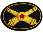 Artillery Officers Deluxe Kepi Insignia Badge